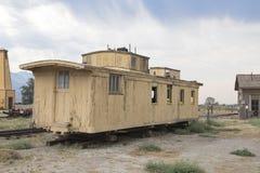 Chariot abandonné de chemin de fer en Californie image libre de droits