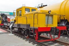 Chariot automatique, Dgku 3754 Musée de Novosibirsk de mach ferroviaire image stock