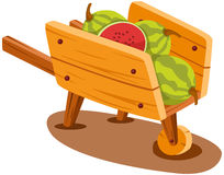 Chariot avec la pastèque Images stock