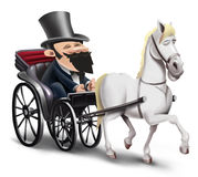Chariot avec le cheval Images stock