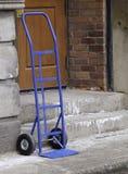 Chariot bleu Image stock