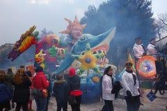 Chariot at carnival parade of Verona city Stock Photos