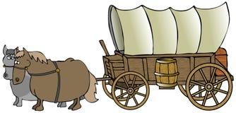 Chariot couvert Photo libre de droits