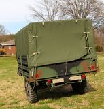 Chariot couvert militaire d'ère du Vietnam Image libre de droits