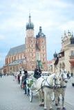 Chariot à Cracovie Photo stock