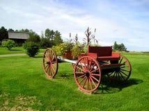 Chariot décoratif de fleur Image libre de droits