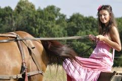 Chariot d'équitation Images stock