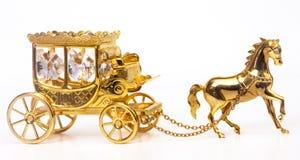 Chariot d'or Photo libre de droits