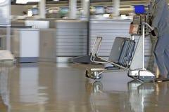 Chariot d'aéroport Photo libre de droits