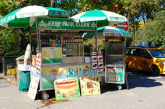 Chariot d'aliments de préparation rapide de New York City Image stock
