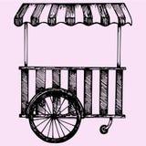 Chariot d'aliments de préparation rapide de rue Image stock