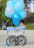Chariot d'hélium d'appui vertical Photos libres de droits
