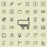 chariot dans l'icône de magasin Ensemble détaillé d'icônes minimalistic Conception graphique de la meilleure qualité Une des icôn Photographie stock libre de droits