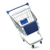 Chariot de achat d'isolement Photo libre de droits
