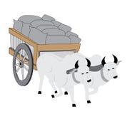 Chariot de Bullock Photo libre de droits