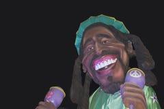Chariot de carnaval avec Bob Marley Photographie stock libre de droits