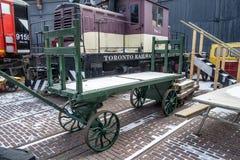 Chariot de chargement de train Images libres de droits