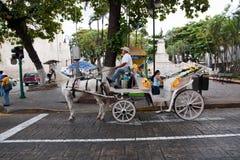 Chariot de cheval à Mérida Image libre de droits