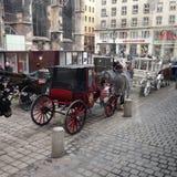 Chariot de cheval de Vienne Autriche image libre de droits
