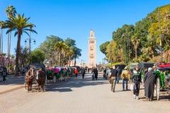 Chariot de cheval, Marrakech Photographie stock