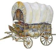 Chariot de cowboy Photos stock
