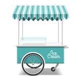 Chariot de crème glacée Image libre de droits