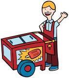 Chariot de crême glacée Image libre de droits