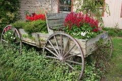 Chariot de fleur Images libres de droits