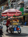 Chariot de fruit Photos stock
