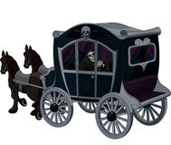 Chariot de Halloween Photos stock