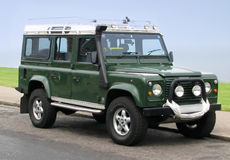 Chariot de jeep de Land Rover Photos libres de droits