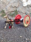 Chariot de jouet de vintage Photographie stock