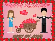 Chariot de l'amour illustration stock