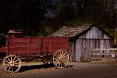 Chariot de la Californie Colombie dans une vieille ville occidentale de fièvre de l'or images libres de droits