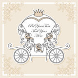 Chariot de mariage Images stock