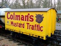 Chariot de moutarde Images stock