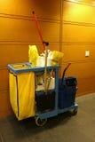 Chariot de nettoyage Photo stock