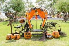 Chariot de potiron Photo stock