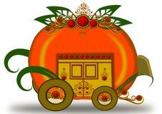 Chariot de potiron illustration stock