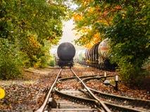 Chariot de réservoir dans l'automne Photo libre de droits