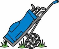Chariot de sac de golf Image libre de droits