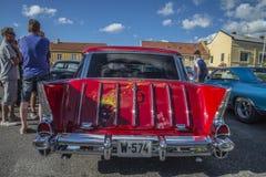 Chariot 1957 de station de nomade de Chevrolet Images stock