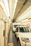 Chariot de train de tunnel sous la Manche Photographie stock
