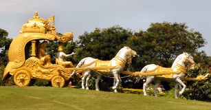 Chariot dourado de Krishna fotografia de stock royalty free