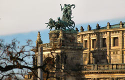 Chariot In Dresden, Germany. Chariot on top of Dresden opera house Stock Images