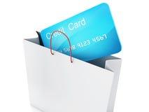 chariot du crédit 3d Concept d'achats Images stock
