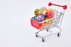 Chariot du marché Photo stock