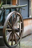 Chariot en bois Image stock