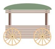 Chariot en bois d'isolement sur le fond blanc Images stock