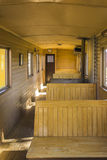 Chariot en bois de chemin de fer Photo libre de droits
